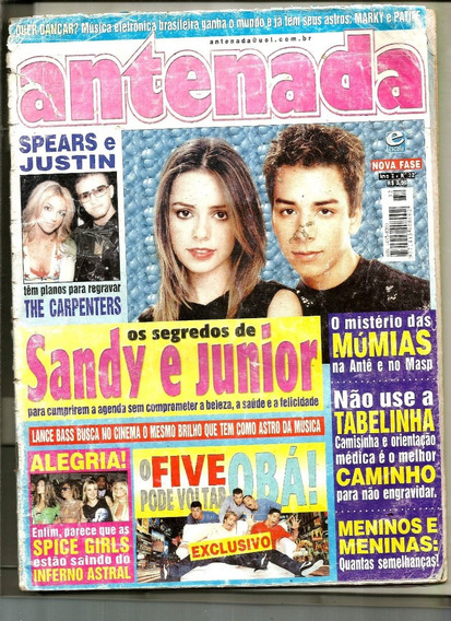 Revista Antenada Nº 32 -sandy E Jr/spice Girls/ Five