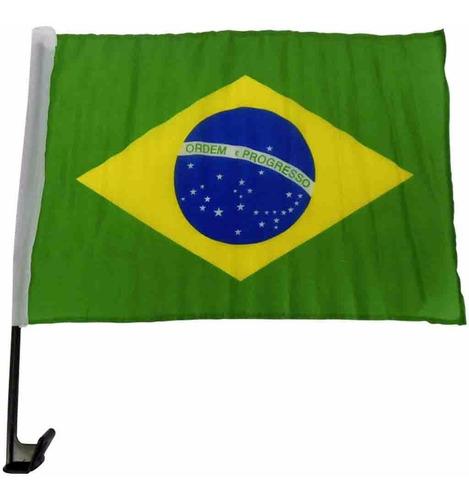 Imagem 1 de 2 de Bandeira Do Brasil Tecido Para Carro
