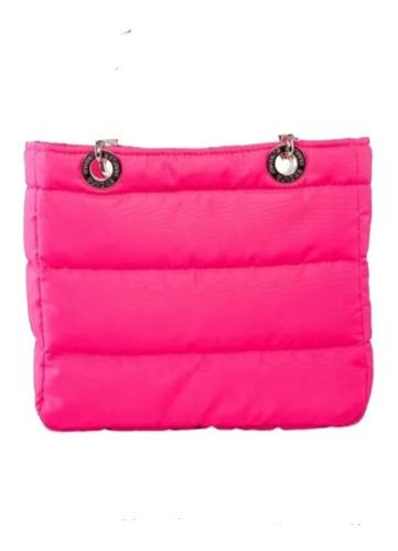 Imagen 1 de 4 de Bolsa Sundar En Liquidacion Rosa Neon Broche Iman Nuevas .az