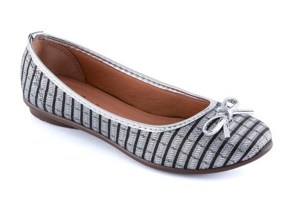 Sapatos Femininos Via Ouro Stalo Preto E Prata Spechio