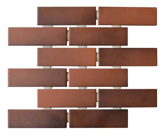 Cerámica Pared En Malla 30x37 Imitación Ladrillos De 5x10