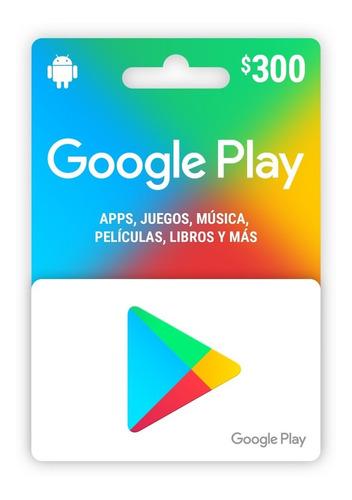 Tarjeta Google Play 300