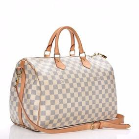Louis Vuitton Speedy 35 Azur Bandoulier Couro Legitimo