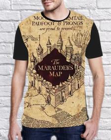 Camiseta Mapa Dos Marotos/ Harry Potter