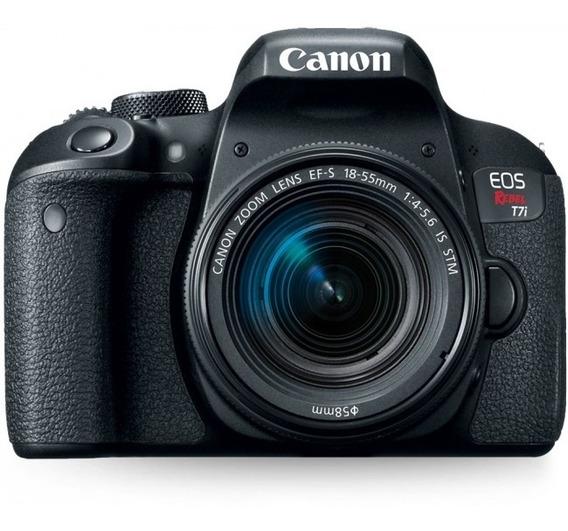 Máquina Canon T7i 18-55mm + Tripe + Bolsa + Cartão Memória
