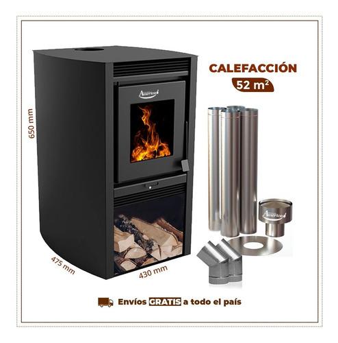 Calefactor Ecológico Dob.comb.680gf C/caños Incl.+par Codos