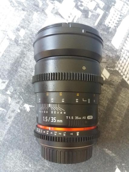 Rokinon 35mm T1.5 Cine As Para Canon + Polarizador Circular