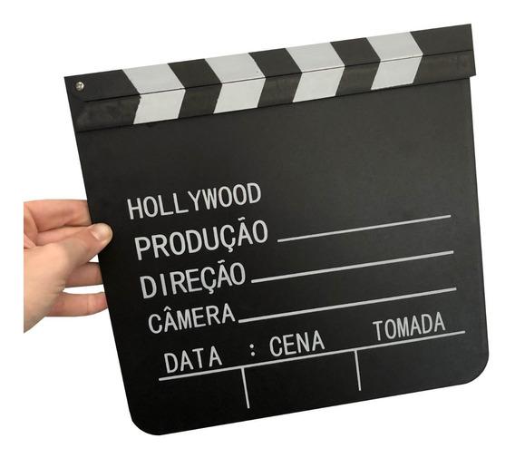 Claquete De Cinema Para Decoração E Filmagens 30cm X 29cm