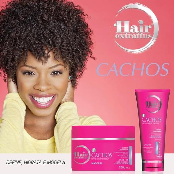 Kit Cachos Low Poo Hair Extrattus 2 Produtos - Tratamento Completo Para Cabelos Ondulados Ou Cacheados