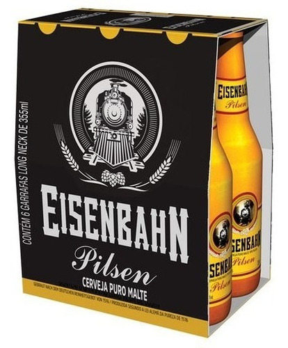 Cerveja Eisenbahn Pilsen 355ml 6 Unidades