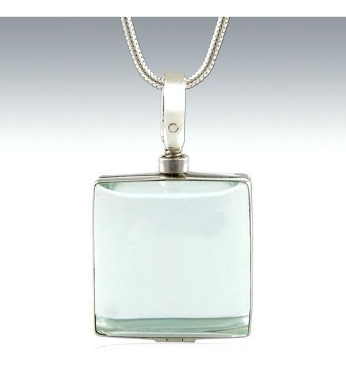 Cuadro De Plata Dije Cristal Relicario Guardapelo Ley.925