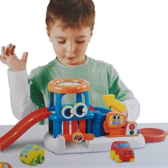 Brinquedo Baby Wheels - Postinho De Gasolina + 2 Carrinhos