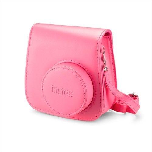 Bolsa De Couro Instax Mini 9 Rosa Flamingo (original)