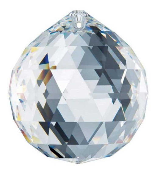 Esfera Bola De Cristal Multifacetada P/ Feng Shui 40mm Linda