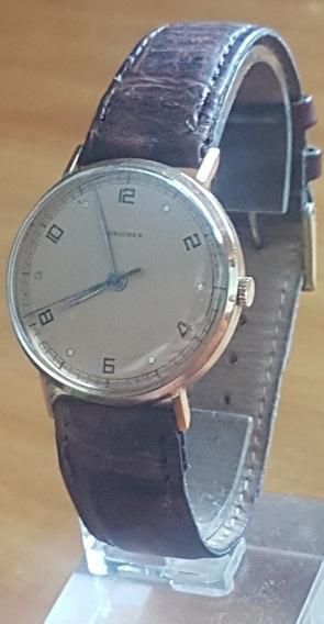 Relógio Longines Vintage Impecável Em Ouro 18k