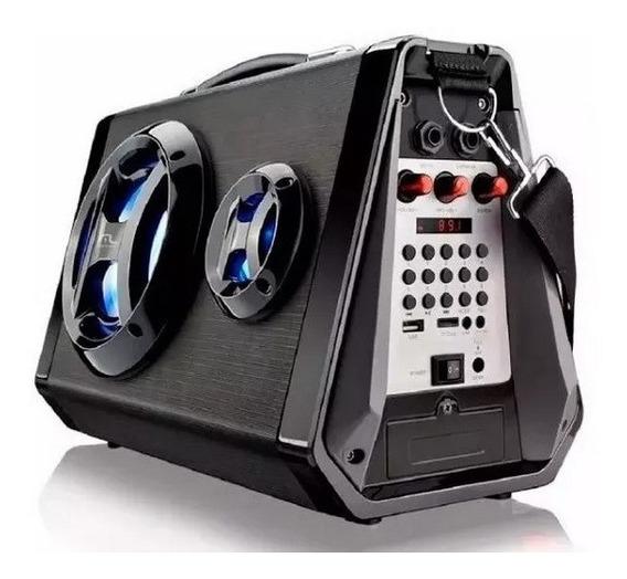 Caixa De Som Bluetooth C/ Microfone Portátil Usb 80w Radio