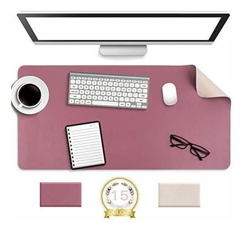 Antideslizante Desk Pad, Impermeable De Pvc De Cuero Escrito