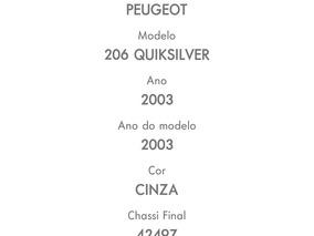 Peugeot 206 1.0 16v Quiksilver 3p 2003
