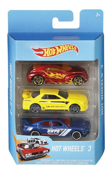 Hot Wheels Pack X3 Vehiculos