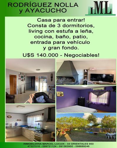Rodríguez Nolla Y Ayacucho - Casa De 3 Dormitorios