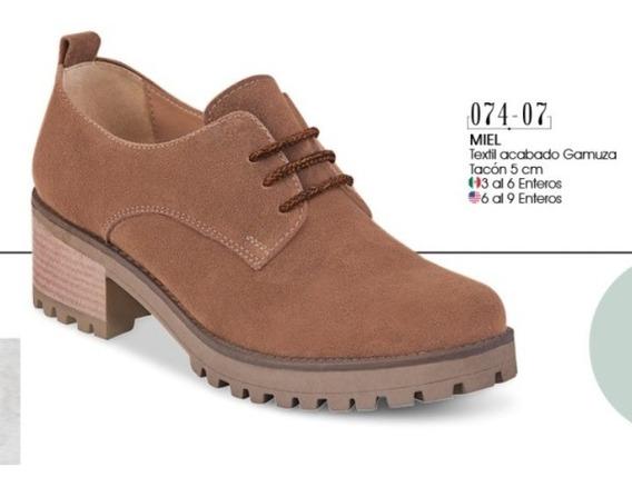 Zapato Dama Color Miel 074-07 Cklass Oi 2019