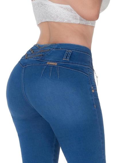 5 Pantalones Mujer Colombiano Push Up Levantapompa Mezclilla