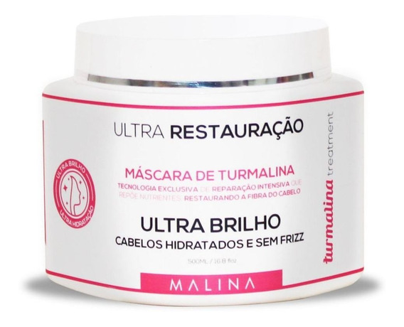 Mascara De Hidratacao Turmalina Ultra Brilho Treatment 500g