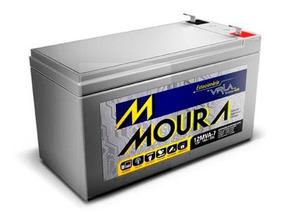 Bateria Moura Estacionária 12v 7a Vrla Para Nobreak Alarme
