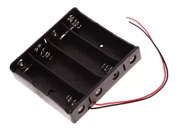 Porta Baterias / Caja Pástica 4 Baterías 3,7v 18650 = 14,8v