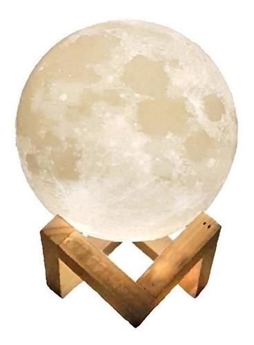 Humificador Difusor Luna Aroma 3 Toques Led Lampara + Obsequ