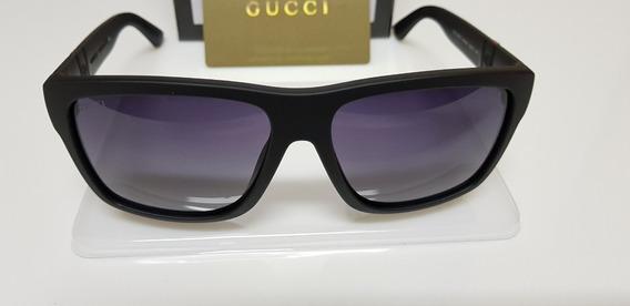Óculos De Sol Gucci Original Gg1124/f/s Acetato Preto