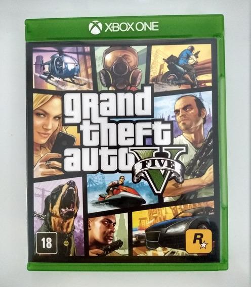 Gta V 5 Xbox One Usado Mídia Física Com Mapa Pronta Entrega