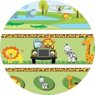 02 Faixas Border Animais Safari Bichinhos Fofinho Parede Top