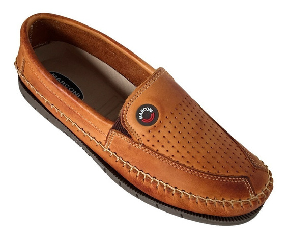 Sapatilha Sapato Couro Casual Solado Costurado Marconi