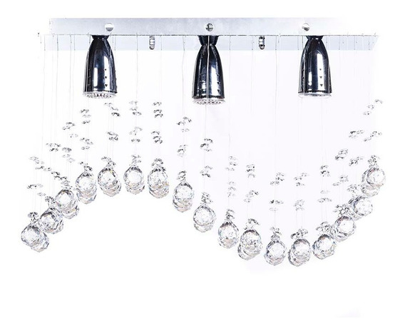 Candil 3l Williams Crystral 00986/3 Ola Petit Chrome Gamalux