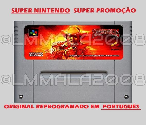 Original Sunset Riders Português Snes Super Nintendo
