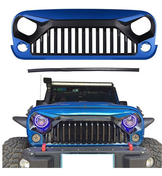 Parrilla Frontal Angry Gladiador Jeep Wrangler Unlimited Jk