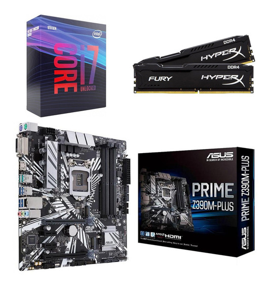 Kit Intel I7 9700k + Asus Prime Z390m-plus + 16gb 2666 Mhz