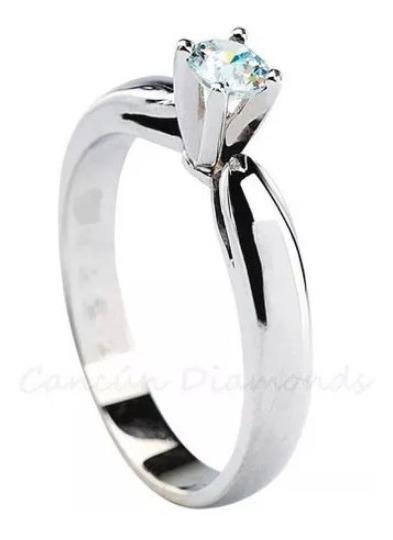 Anillo Diamante Natural Certificado Gia Oro .53 Ct.