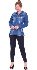 Jaqueta Jeans K2b Comprida Feminina