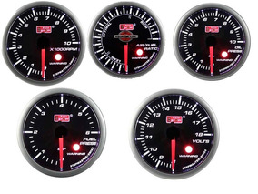 Kit 5 Relo Auto Gauge Rpm Hallme, P Oleo, P Comb, Volt Smoke