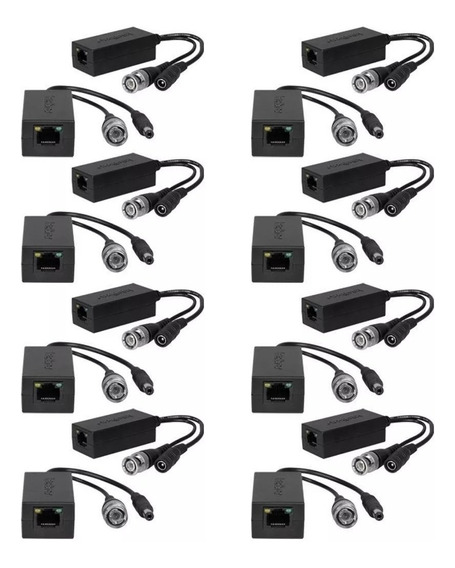 8- Video Power Balun Intelbras Xbp 502a Cabo Utp 300 Metros