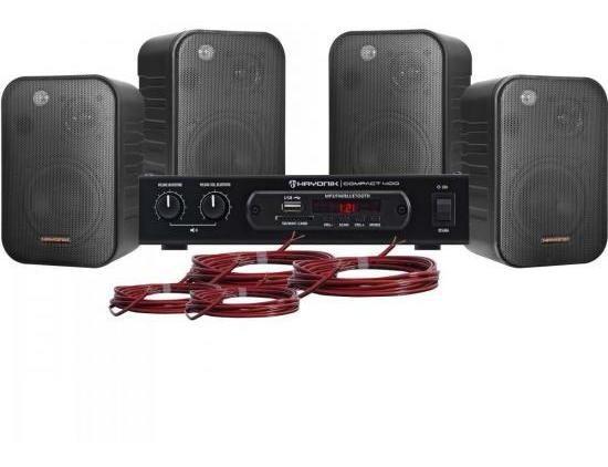Kit Som Ambiente 400w Musical Ambience 4000 Preto Hayonik Nf