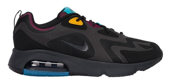 Tenis Nike Air Max 200 Black/anthracite-bordeaux #27 Mx