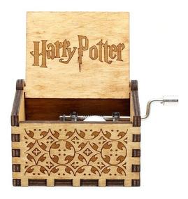 Caixinha Caixa De Música Harry Potter(manivela) Cor Marrom