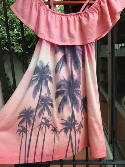 Vestido Solero Zara Nena Rosa Hombro Descubierto T 9 O 10