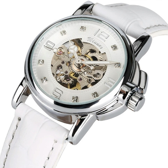 Relógio Winner,automático E A Corda,feminino,modelo H203l