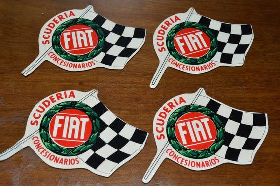 Fiat Calcos Originales Antiguos Lote X 4 No Repro