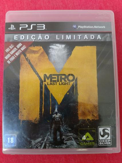 Metro Last Night Ediçao Limitada Ps3 Midia Fisica Frete R$10