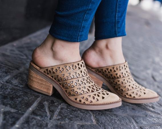 Zapatos Mujer Zuecos Botas Botitas Botinetas Mujer Caladas Livianas Taco Cuadrado